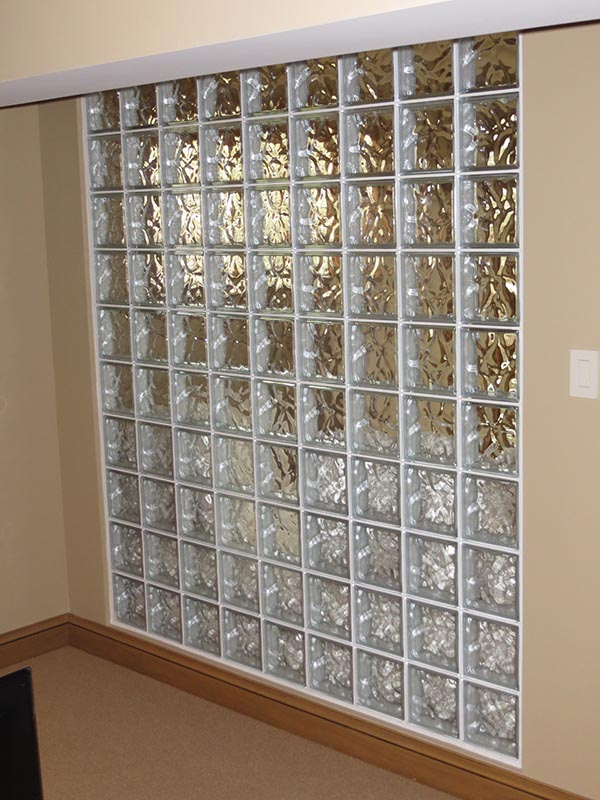 Glass block wall design ideas